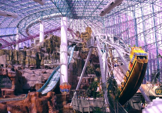 Awash in Pink, the Circus Circus Adventuredome has enough roller coasters and rides to occupy an entire day.