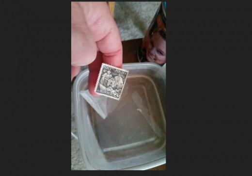 slip stamp off backing