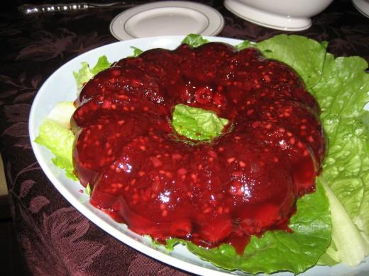 Molded gelatin salad