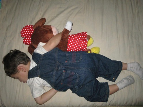 Some toddlers sleep much better with a comforting toy