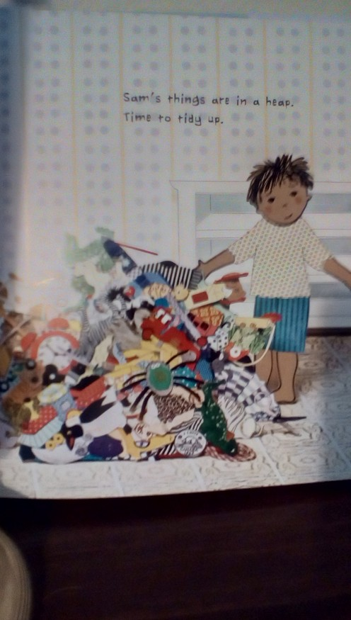 Sam's room is a mess! Help him sort, count, and categorize his toys to clean up the mess