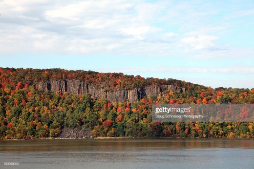 New Jersey Palisades from New York side of Hudson River-a granite deposit courtesy of Mother Nature