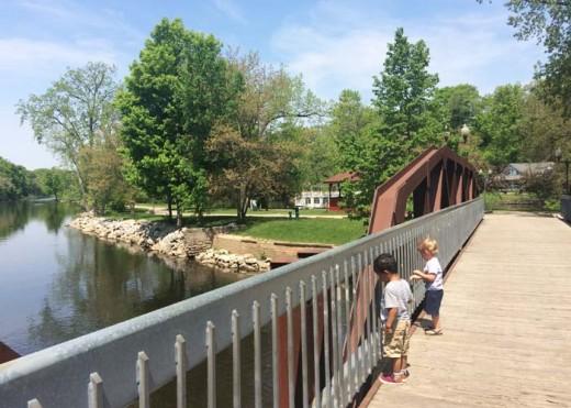 Bridge to Island Park, Grand Ledge