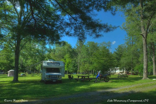 Waramaug State Park is wonderful for those who wish to camp.