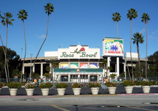 The infamous Rose Bowl stadium
