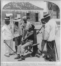 A 1901 execution at the old Bilibid Prison, Manila, Philippines