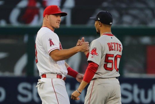 Mike Trout(left) and Mookie Betts(right) are two of the front runners to win this year's AL MVP award