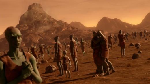 A Martian gathering.