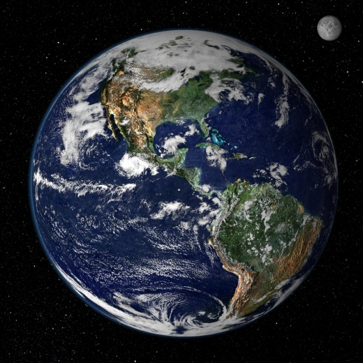 Planet Earth: An abode of life in our solar system.