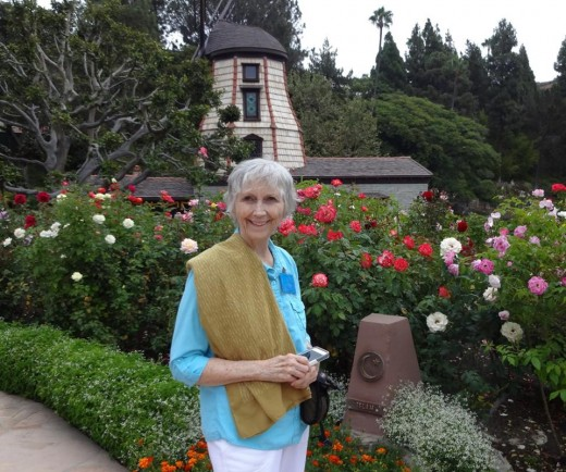 At the Windmill Chapel, SRF Lake Shrine, Los Angeles CA