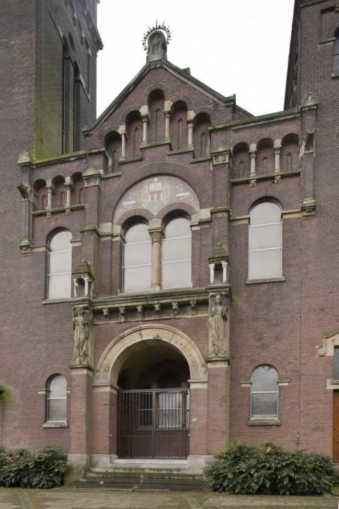 Remonstrantse Kerk, Rotterdam: Detail: Front entrance elevation