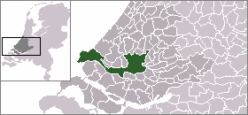 Map location of Rotterdam in The Netherlands