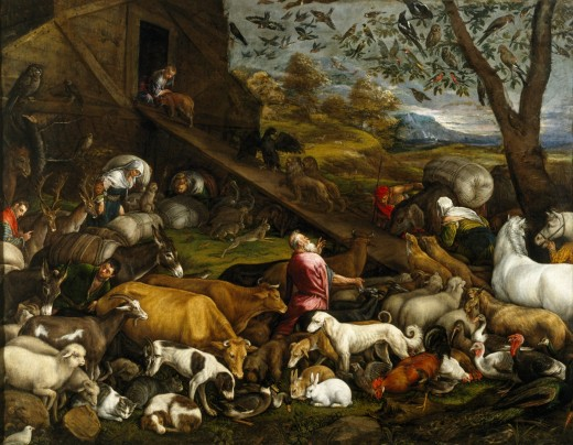 The Animals Entering Noah's Ark 1570s Jacopo Bassano