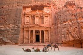 Petra, Jordan, a city believed to be built by the Edomites.
