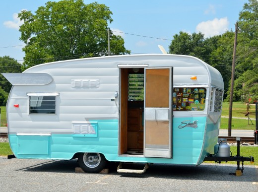 Glamp out your newly renovated camper with wings and/or dress it up with fun stickers.
