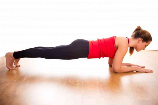 Low plank stretches your core