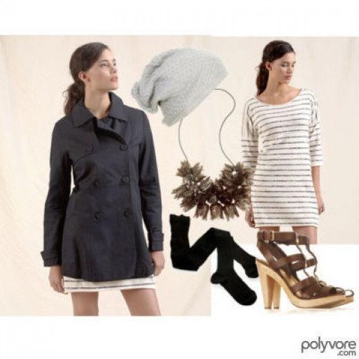 Cruise Wear and the Nautical Look - short raincoat for a tropical storm