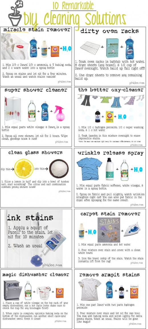 Great ways to remove stains.