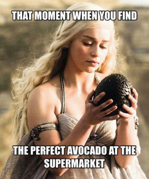 The moment when you find the perfect avocado.