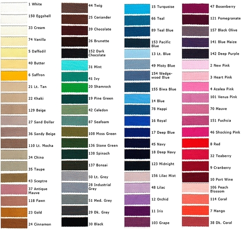 Wide selection of colors