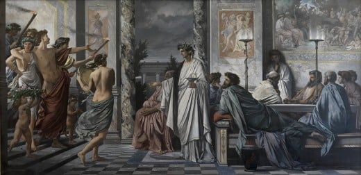 A depiction of a Greek symposium, Plato's Symposium by Anselm Feuerbach