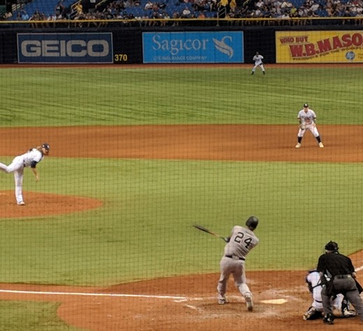 Gary Sanchez batting against Tampa Bay on July 23, 2018.