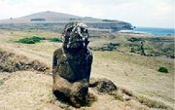 The only kneeling moai