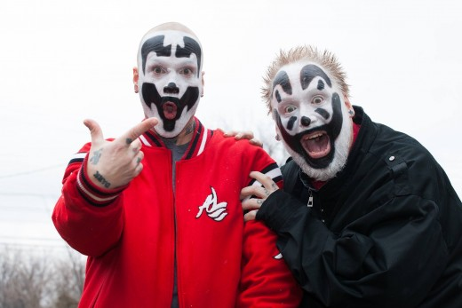 Insane Clown Posse claims to be evangelical Christians. As a former fan I say that's far from the truth as evident by that interview link.