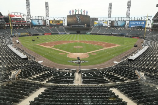 Guaranteed Rate Field. It seems inoffensive and pleasant in this photo. But this may be one of the worst ballparks in Major League Baseball.