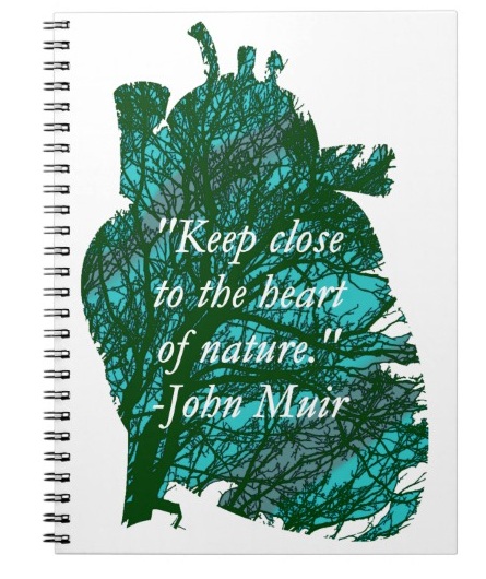 If you feel inspired, you could get this notebook from my Zazzle store and write your own nature poems in it. Just click the link in the source.