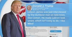 Donald Trump, His Twitter Habit, and Lebron James