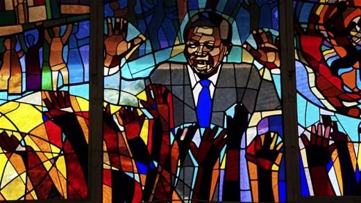 Stained-Glass Window depicting Nelson Mandela