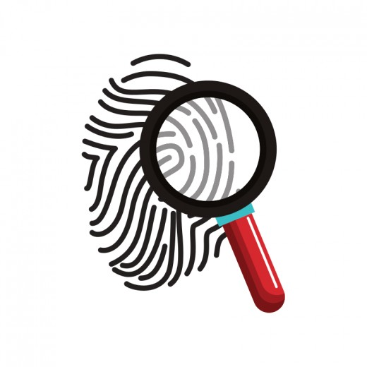 Fingerprint with Magnifying Glass