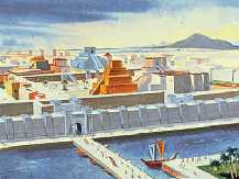 An artist's rendition of Nebuchadnezzar's Babylon  (courtesy of www.earthsfinalwarning.com)
