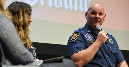 "Salt Lake City Fire Captain Mike Stevens speaks at a Salt Lake Tribune ""Trib Talk Live."" Stevens was able to recover from post-traumatic stress disorder through eye movement desensitization and reprocessing that he says was ""tweaked"" for him."
