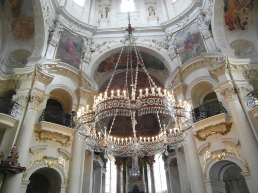 Interior of Church of St Nicholas, Old Town Prague.