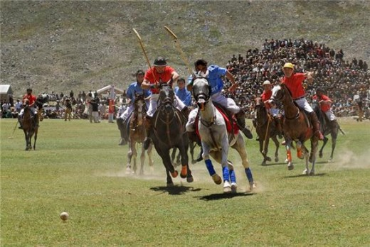 Local version of polo is popular in the northern areas of Pakistan, where each valley has a team.