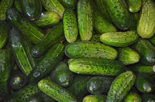 Cucumbers with low GI are very low in calories
