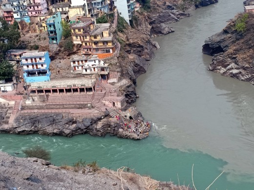 Confluence of rivers in Uttrakhand