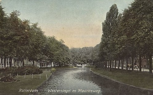 The Westersingel and the Mauritsweg, 1904