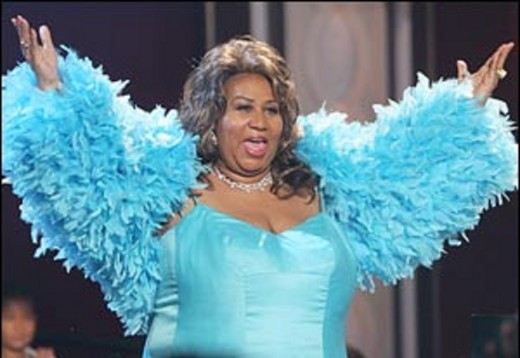 Aretha Franklin performing in 2008.