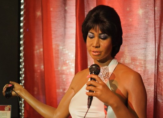 Figure of Aretha Franklin at Madame Tussaud's in New York City.