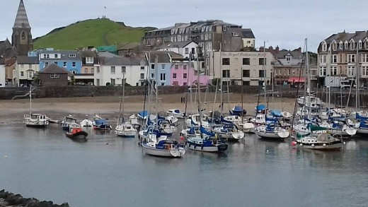Ilfracombe Harbor as seen from the harbor car park.