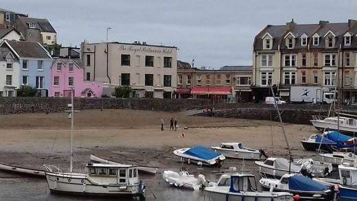 The Royal Britannia Hotel as seen from the harbor car park.