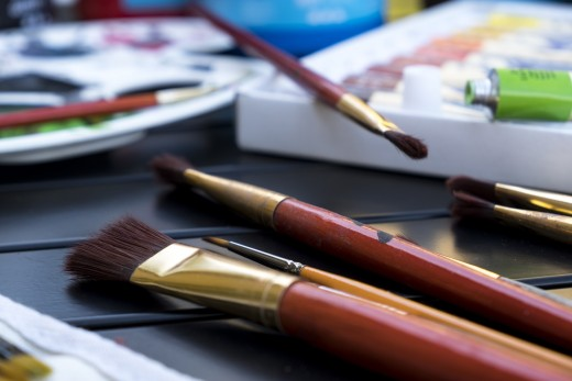 Acrylic paint brushes are critical for best results when working with acrylics.
