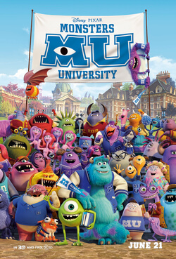 Monster University Theatrical Release Poster