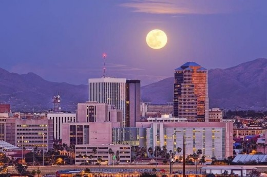 Moon over Tucson