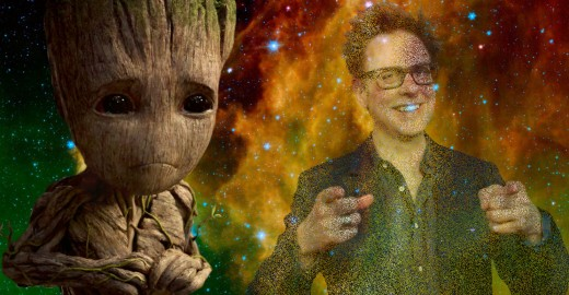 Baby Groot sheds a single tear regarding the loss of James Gunn in the MCU.