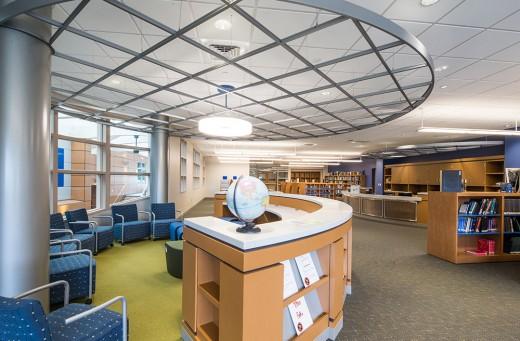 A modern library interior
