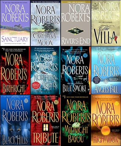 A few of Nora Robert's books